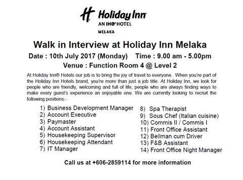 informal letter holiday in malacca